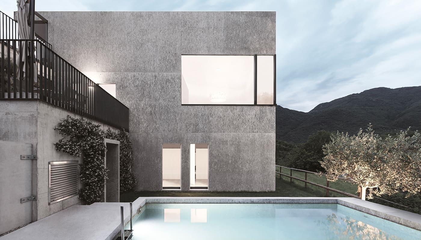 Villa_con_piscina_e_infissi_naturali_finnova