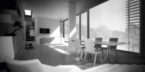 soggiorno_arredato_con_infissi_scorrevoli_in_legno_naturale_finnova